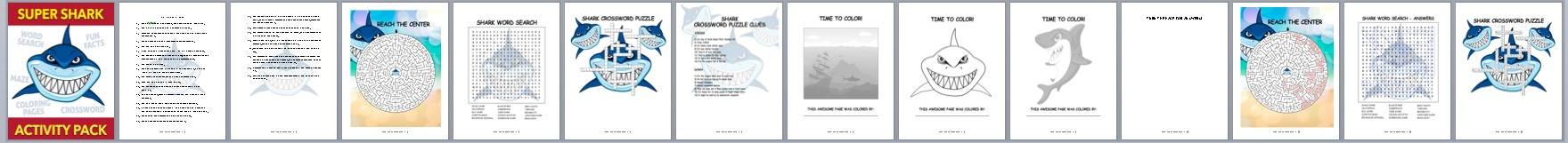 Done-for-You Shark Activity Book – Hard