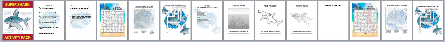 Done-for-You Shark Activity Book –Medium
