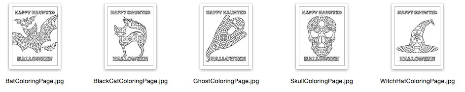 Haunted Halloween Coloring Pages