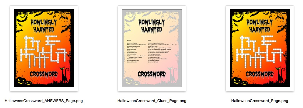 Haunted Halloween Crossword Puzzle