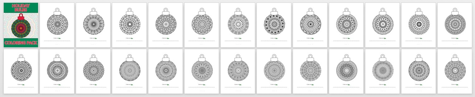Holiday Bulbs Book Preview