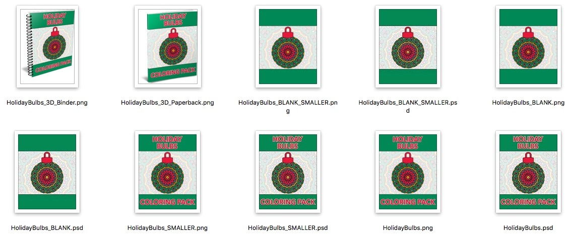 Holiday Bulbs Covers Preview