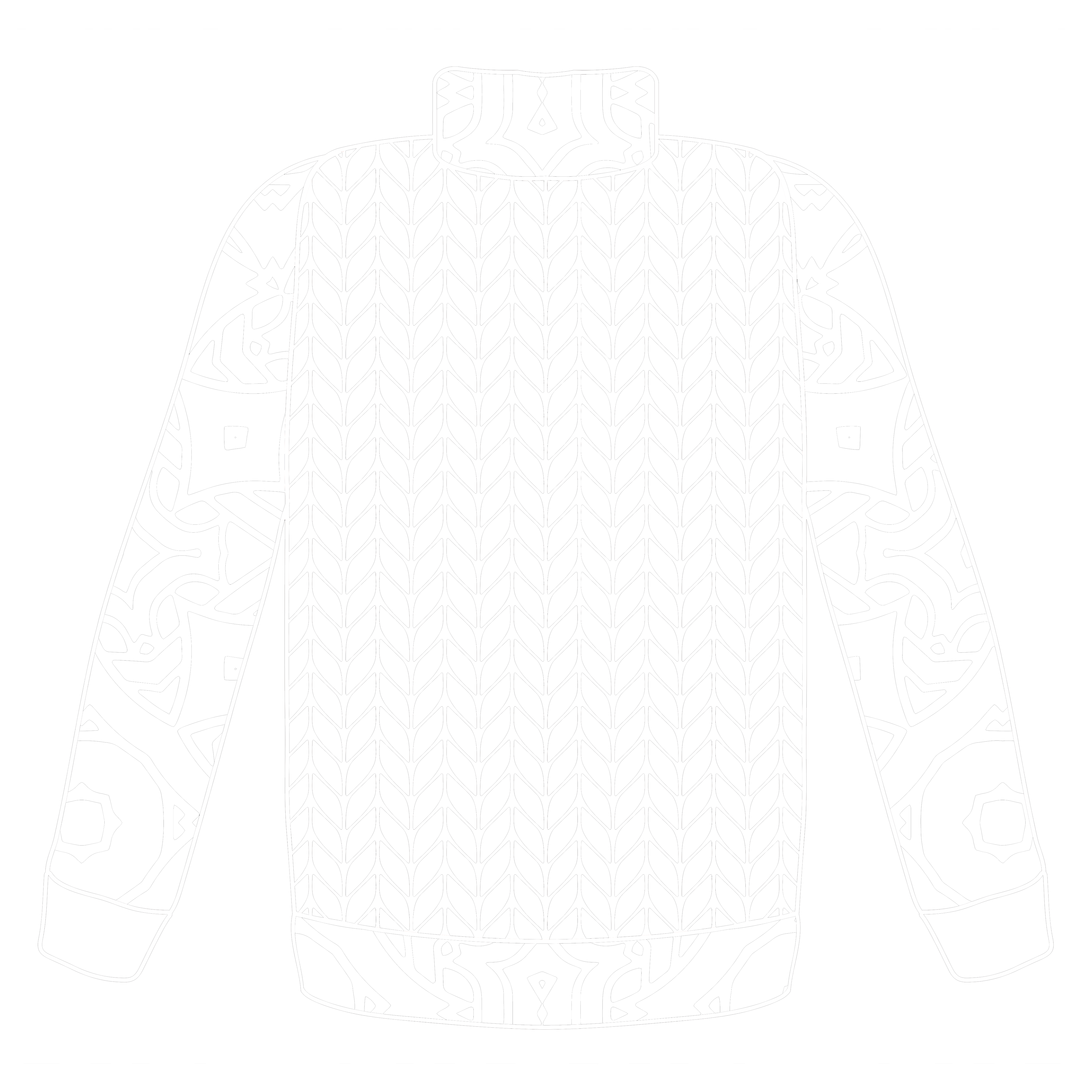 Ugly Sweater 03 – White Line
