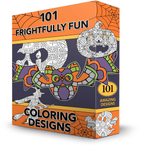 Frightfully Fun Halloween Coloring Designs by Shawn Hansen