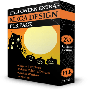 The Halloween Extras MEGA DESIGN PLR Pack
