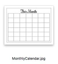 Simple Success Planner Monthly Calendar Preview